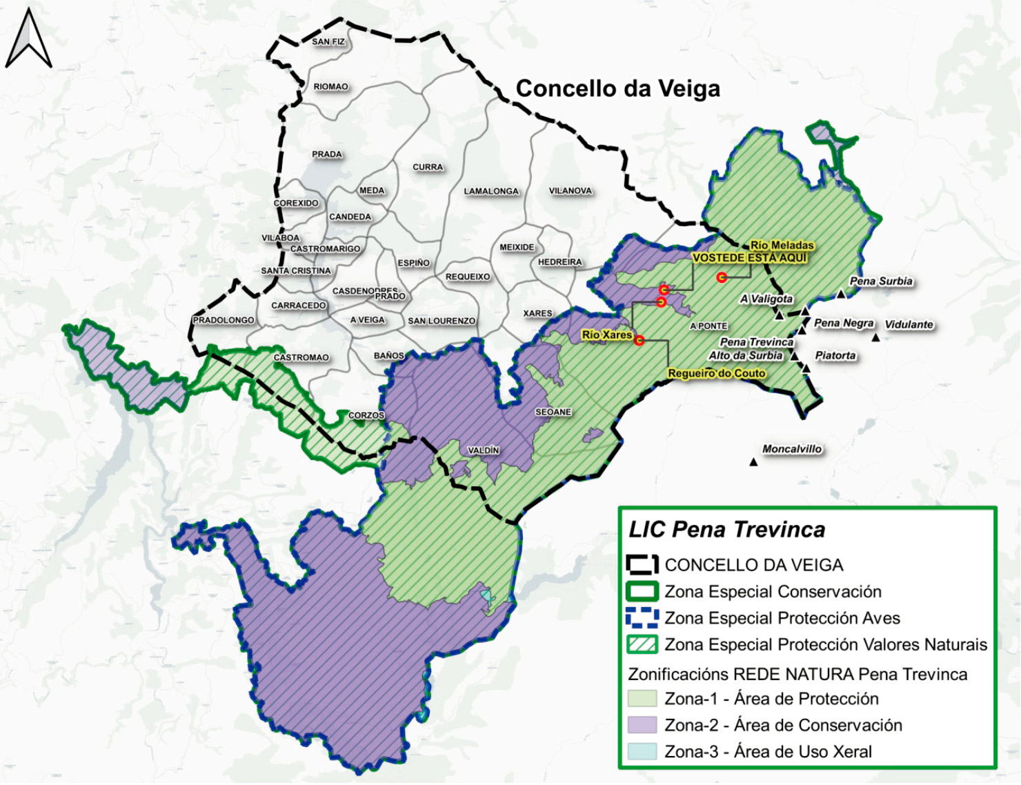 Mapa LIC Pena Trevinca